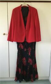 Jacques Vert red co-ordinate suit