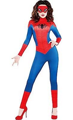 The Amazing Spider-Man Spider-Girl Female Adult Costume Size XL 14-16 New 640 - Spiderman Female Costume