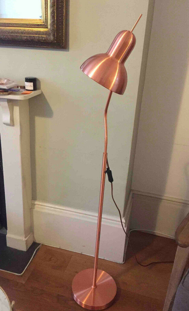 Rose Gold Floor Lamp In Great Condition