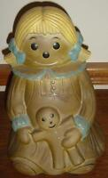 2 Pc Cookie Jar, Girl And Gingerbread Man - St. Thomas