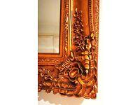 HUGE gold painting vintage style mirror