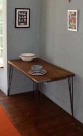Scaffold Board Kitchen Industrial Hairpin Leg Table
