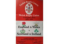 Rugby Union Programme: England and Wales v Scotland and Ireland 1980 - Really unusual