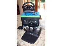 Boxed Xbox One Logitech G920 Wheel & Pedals