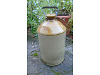 VINTAGE ANTIQUE VICTORIAN EDWARDIAN STONE WARE STORAGE JAR FLAGON GOOD CONDITION KITCHEN DISPLAY