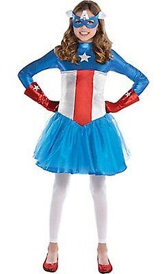 Captain America Dream Girl Classic Costume SIZE Small 4-6 Marvel Comics NEW 328 (Toddler Girl Captain America Costume)