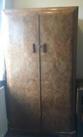 Walnut veneer wardrobe