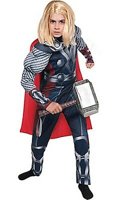 Thor Anzug (The Avengers Thor Kinder Muskelkostüm Marvel Comics Größe M 8-10 Nwt 195)