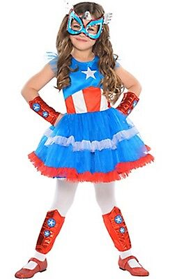 Captain America Dream Girl Classic Tutu Costume SIZE Small 4-6 Marvel Comics NEW (Toddler Girl Captain America Costume)