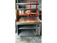 Commercial kitchen gantry three tier with hot cupboard / Chefs Pass
