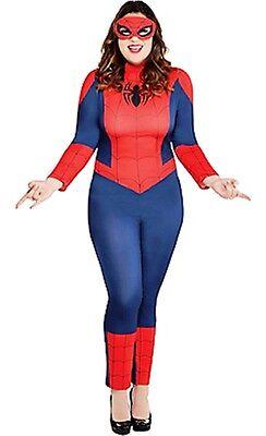 Spiderman Girl Kostüme (The Amazing Spider-Man Spider-Girl Weiblich Erwachsene Kostüm Übergröße 18-20)
