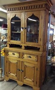 1900's Rustic Oak Cabinet