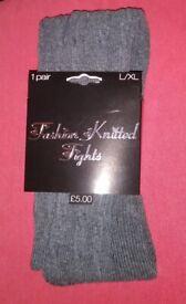 Fashion Knitted Tights - L/XL