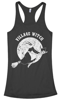Village Witch Women's Racerback Tank Top Funny Halloween Costume Gift - Funny Halloween Costume Women