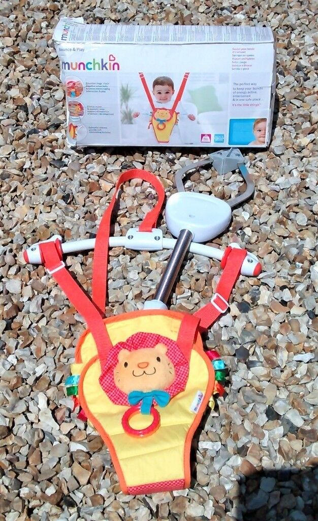 fc426120607 Munchkin Bounce and Play Baby Door Bouncer (Lenny the Lion) | in  Cumbernauld, Glasgow | Gumtree