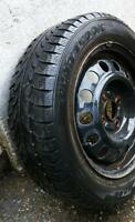 185/60/14 RIMS WITH SUMMER TIRES - ECHO, COROLLA, HONDA CIVIC