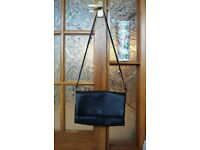 BETTY JACKSON BLACK - LARGE BLACK LEATHER HANDBAG - EXCELLENT CONDITION