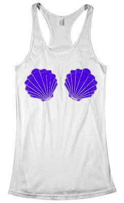 Mermaid Seashell Bikini Women's Racerback Tank Top Beach Costume](Tank Costume)