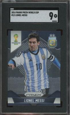 2014 Panini Prizm World Cup #12 Lionel Messi Mint SGC 9