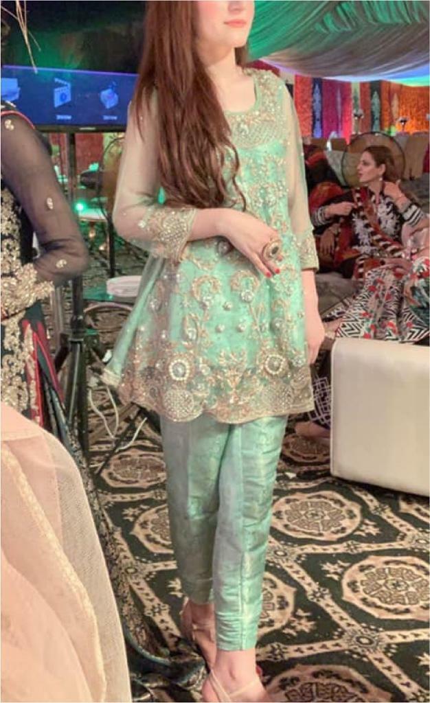 5e0a8703f8da96 Pakistani / Indian / wedding dress / Heavy Embroidered/ 3pc / Turquoise