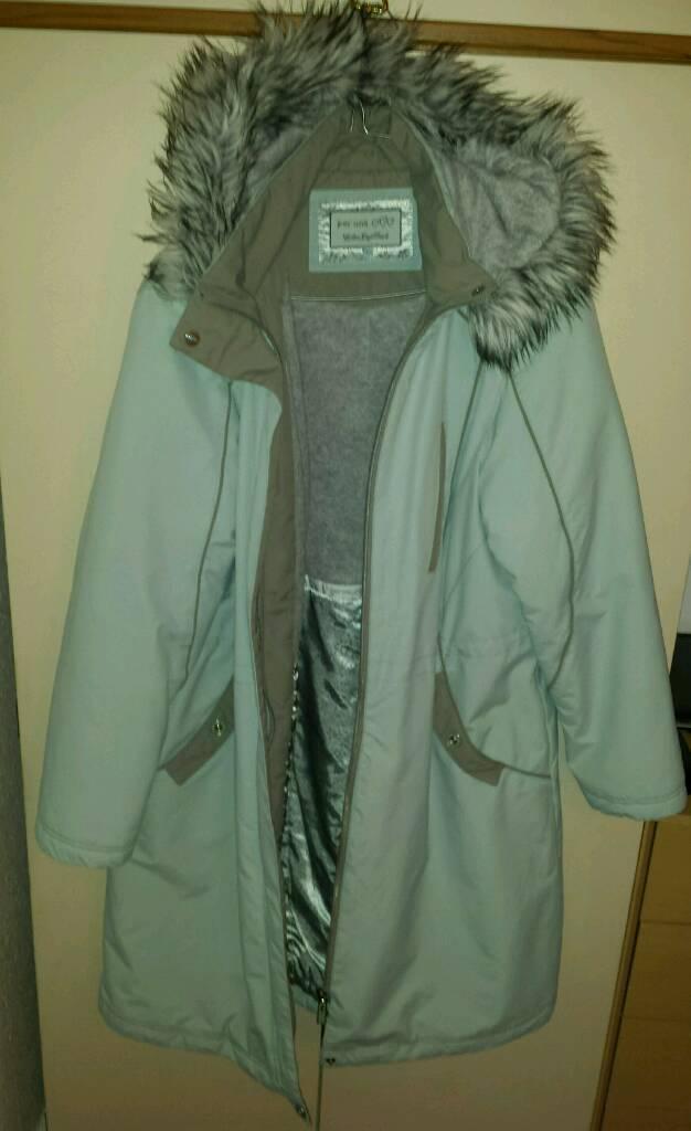 M&S Per Una Large Jacket Pale Blue