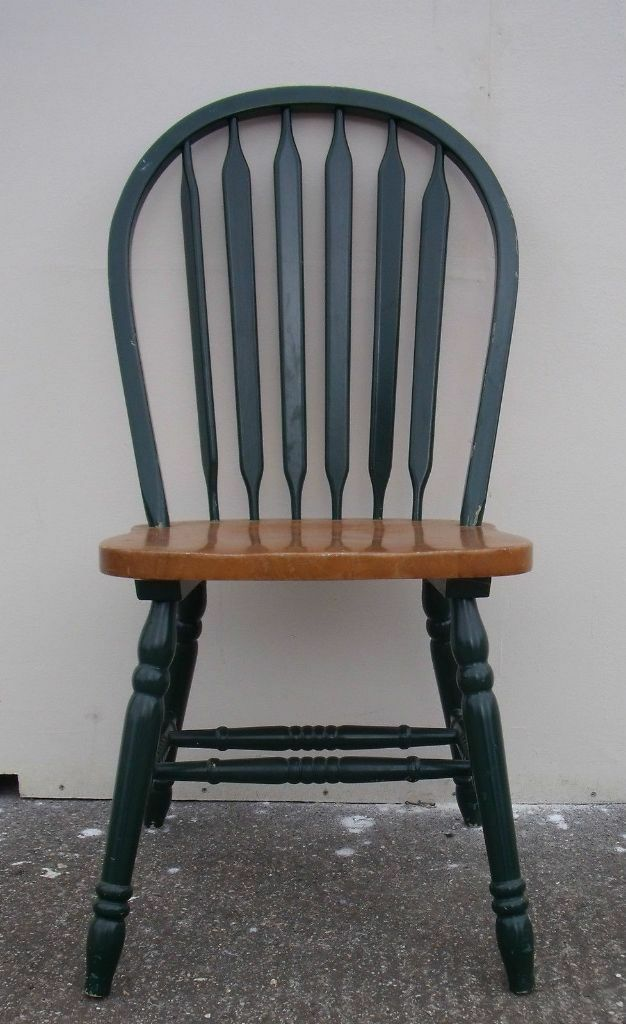pine dining room kitchen chair single with green frame in