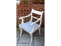 Lovely Shabby Chic Dining/ Living/Kitchen Chairs painted in Antique White Colour
