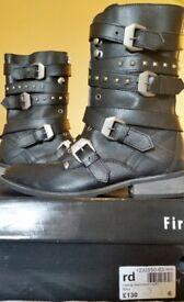 FireTrap Black Boots. Size 6