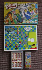 THE SIMPSONS SPRINGFIELD USA BOARD GAME 3 D CHESS TRIVIA GAME DOMINOES BUNDLE