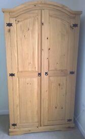 Corona Mexican Pine Two Door Wardrobe