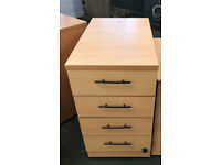 office pedestal 4 drawers chest drawer