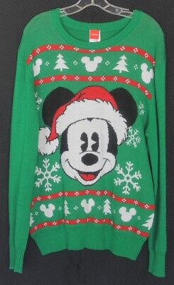 Disney Mickey Mouse Ugly Tacky Christmas Sweater Size L - NWT $64 (Tacky Sweater)