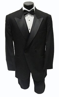 (43L NEW 100% Wool Peak Lapel Double Breasted Tuxedo Jacket Discount Tux Coat)