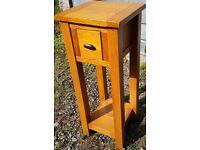 oak planter - solid oak small console table