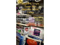 Bedding Double & Single Duvet Sets • Faux Minx Throws • Pillows And Much More See