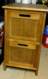 Two drawer wooden cabinet good condition