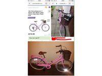 Pink retro vintage bike