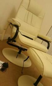 Massage chair recliner swivel heated & footstool
