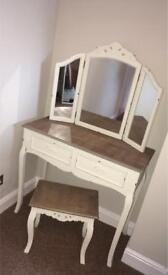 Dunelm Camille Ivory Dressing Table Set - RRP £199 SALE £120!!