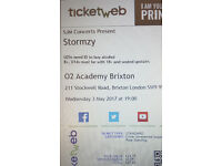 Two STORMZY unreserved seating/rear standing tickets! May 3rd Brixton Academy £30 each