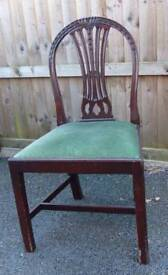 Mahogany bedroom / hallway / spare chair