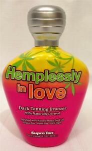 Supre Tan HEMPLESSLY IN LOVE Bronzer Hemp Seed Oil Indoor Tanning Bed Lotion
