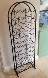 Black metal wine rack - great condition