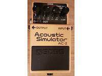 Boss AC-2 - Acoustic Simulator Guitar Pedal.