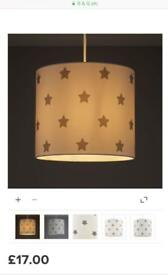 Kids colourise star lampshade from B&Q
