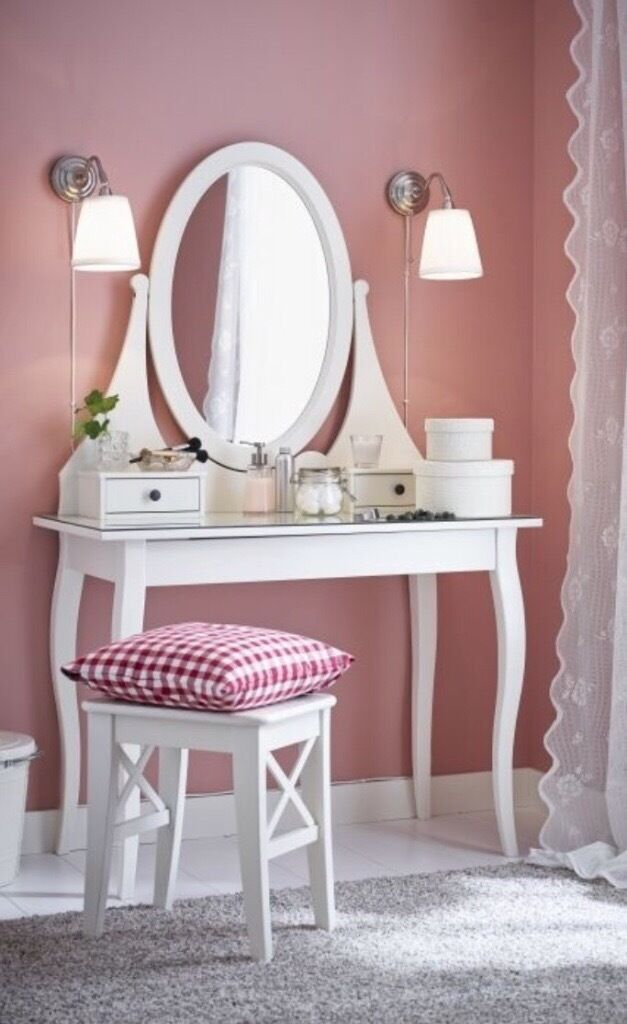 Ikea hemnes dressing table and stool in basford for Ikea hemnes vanity table