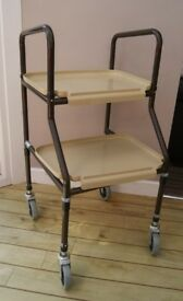 Height Adjustable Kitchen Trolley Mobility Walking Aid with Removable Trays