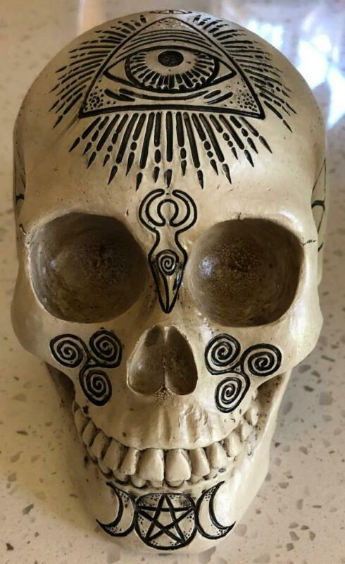 Skull Enscribed with Witchcraft and Celtic Symbols!