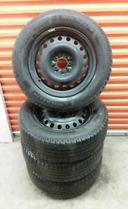 (H280) 4 Pneus Hiver - 4 Winter Tires 225-65-17 Michelin 7-8/32