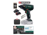 Brand new, sealed, Parkside Impact Drill with 20V 2AH battery and charger